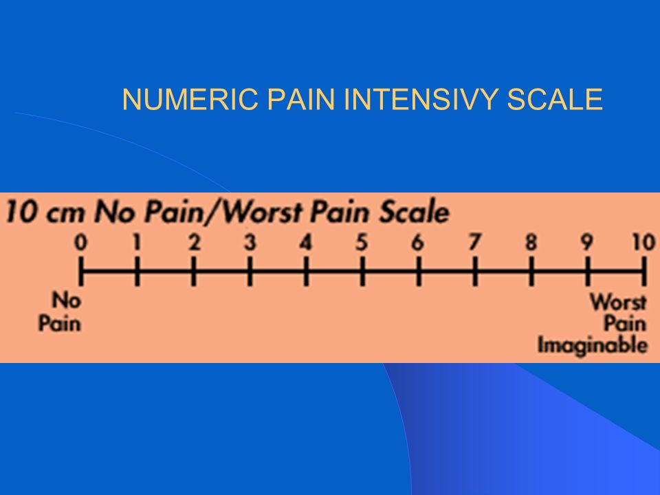 NUMERIC PAIN INTENSIVY SCALE