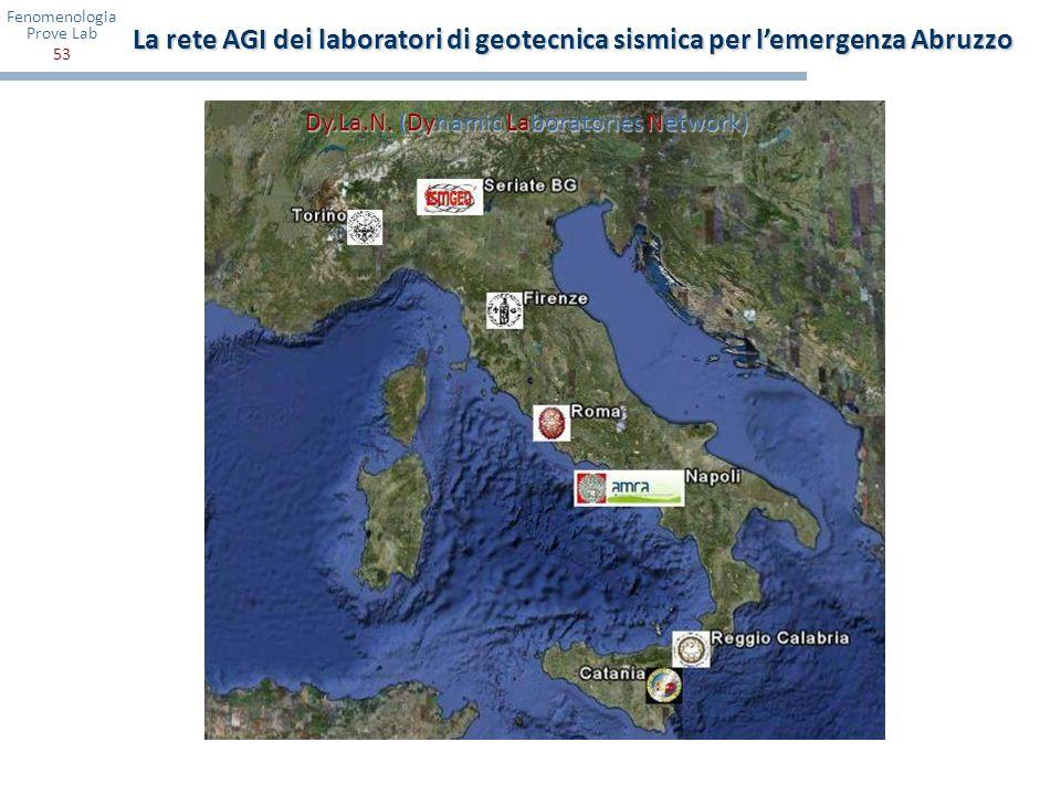 La rete AGI dei laboratori di geotecnica sismica per l'emergenza Abruzzo