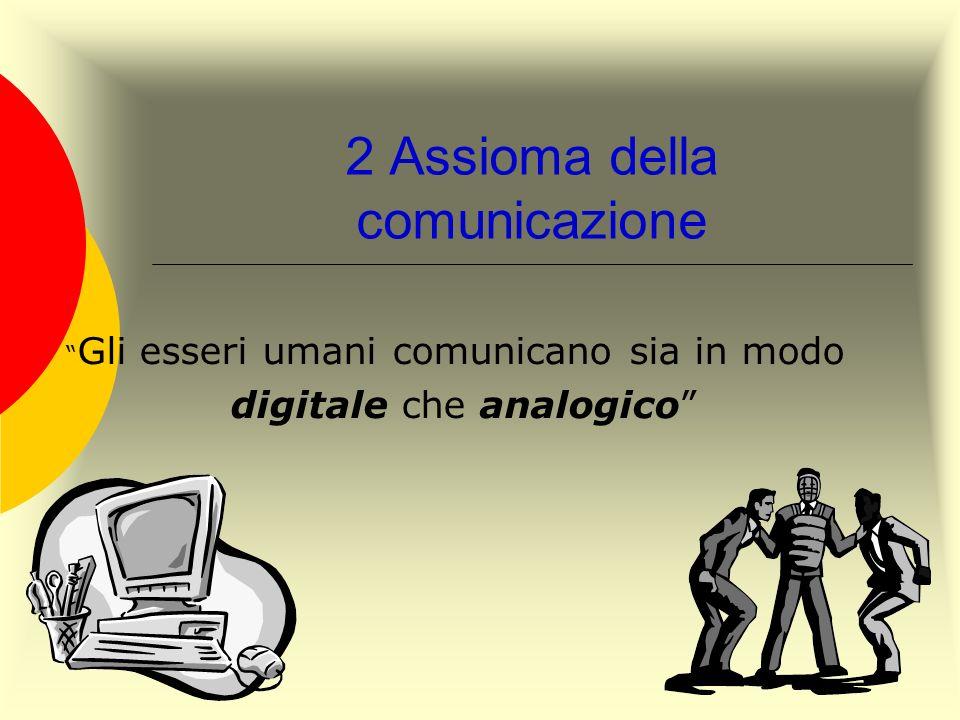 2 Assioma della comunicazione