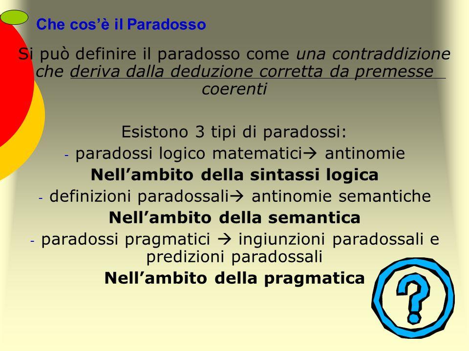 Esistono 3 tipi di paradossi: paradossi logico matematici antinomie