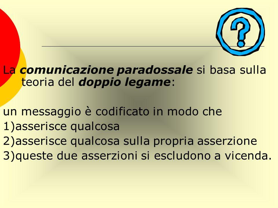 La comunicazione paradossale si basa sulla teoria del doppio legame: