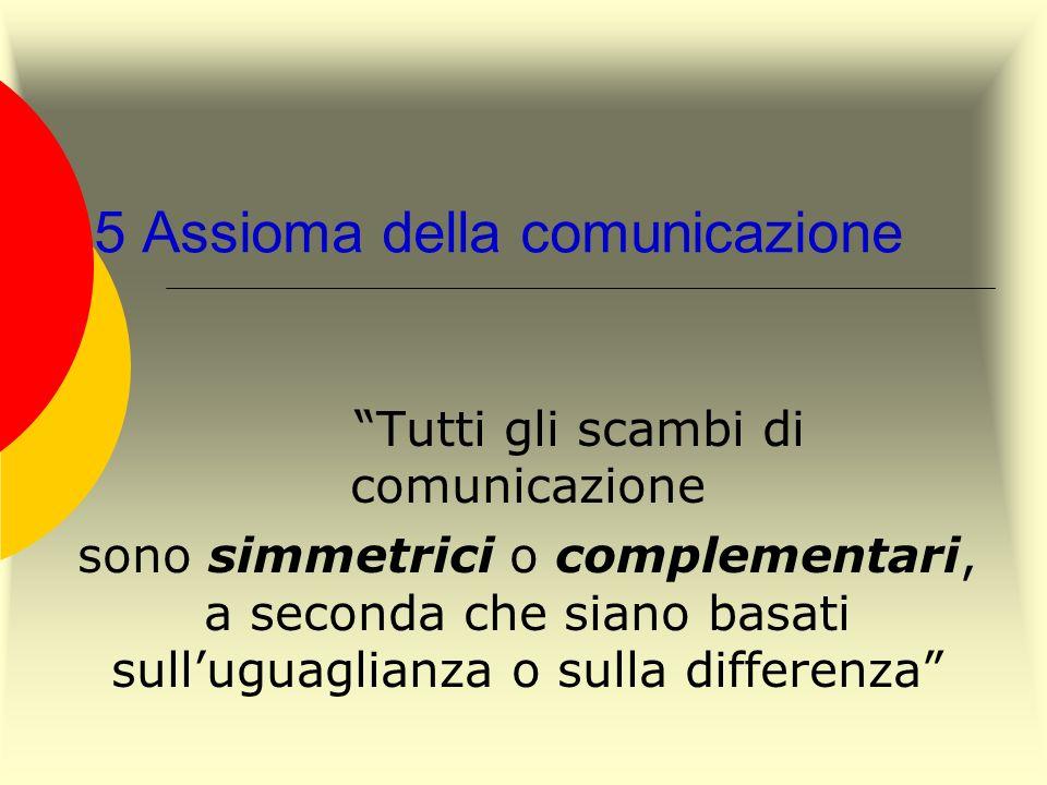 5 Assioma della comunicazione