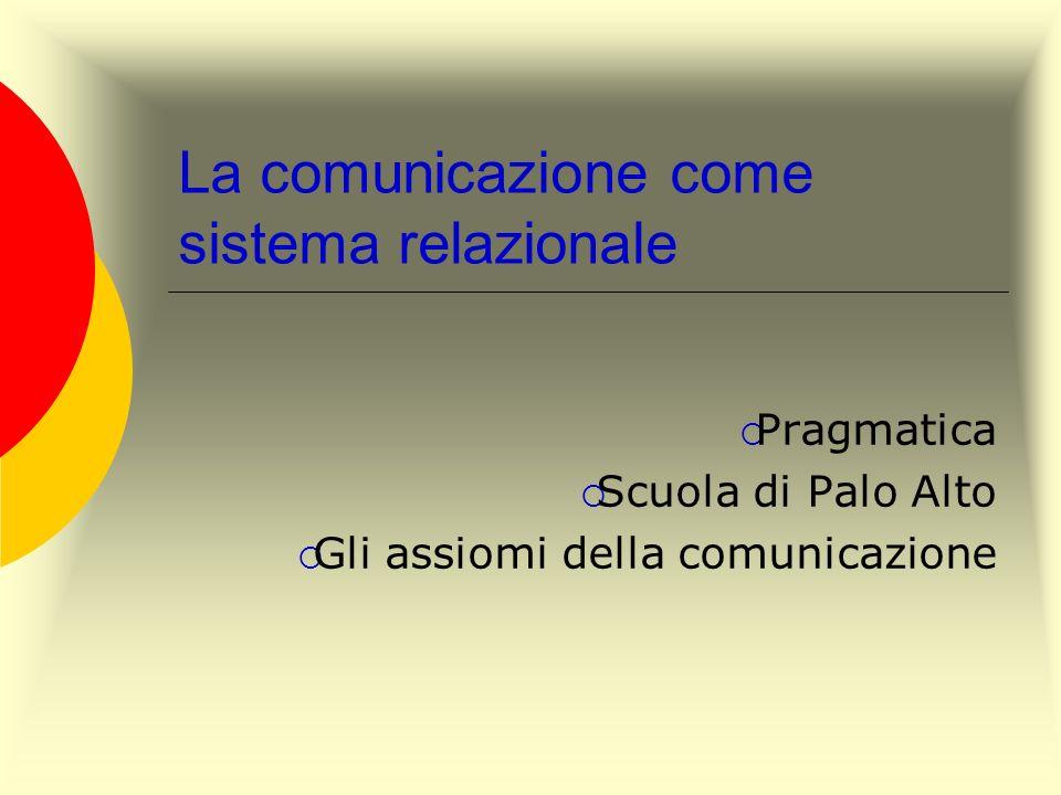 La comunicazione come sistema relazionale