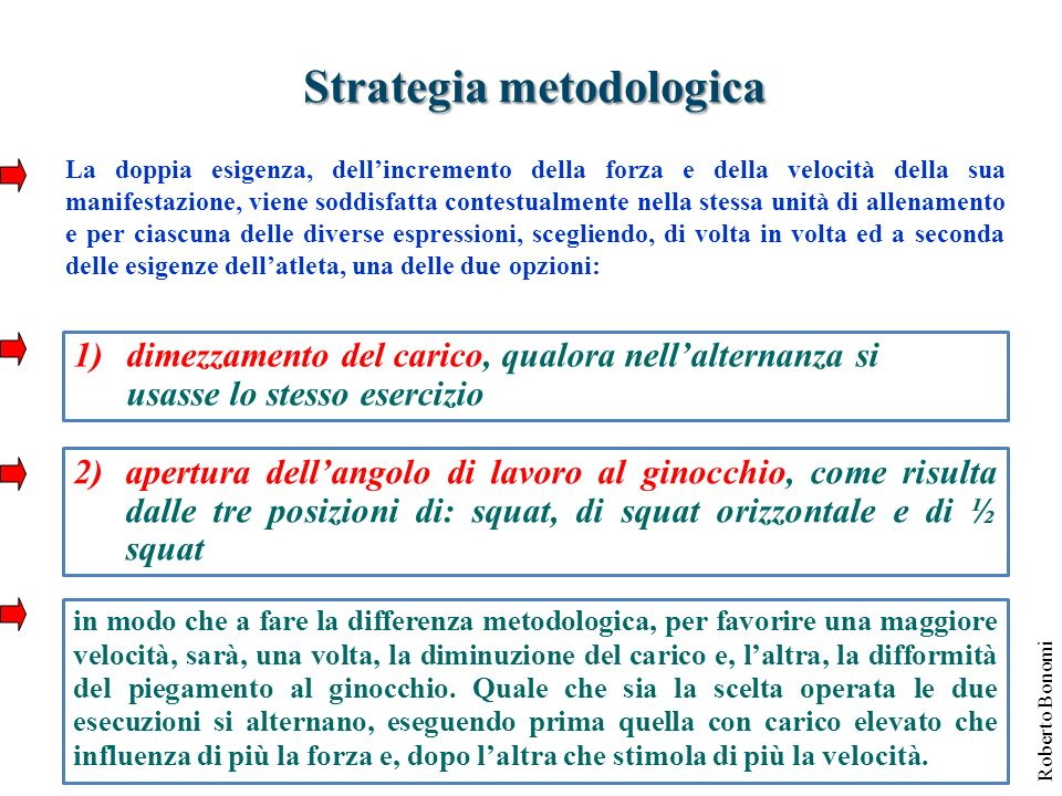 Strategia metodologica