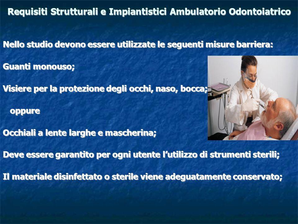 Requisiti Strutturali e Impiantistici Ambulatorio Odontoiatrico