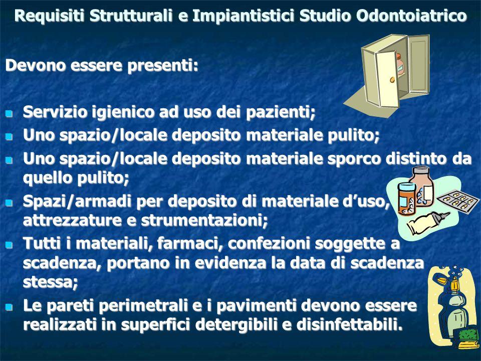 Requisiti Strutturali e Impiantistici Studio Odontoiatrico