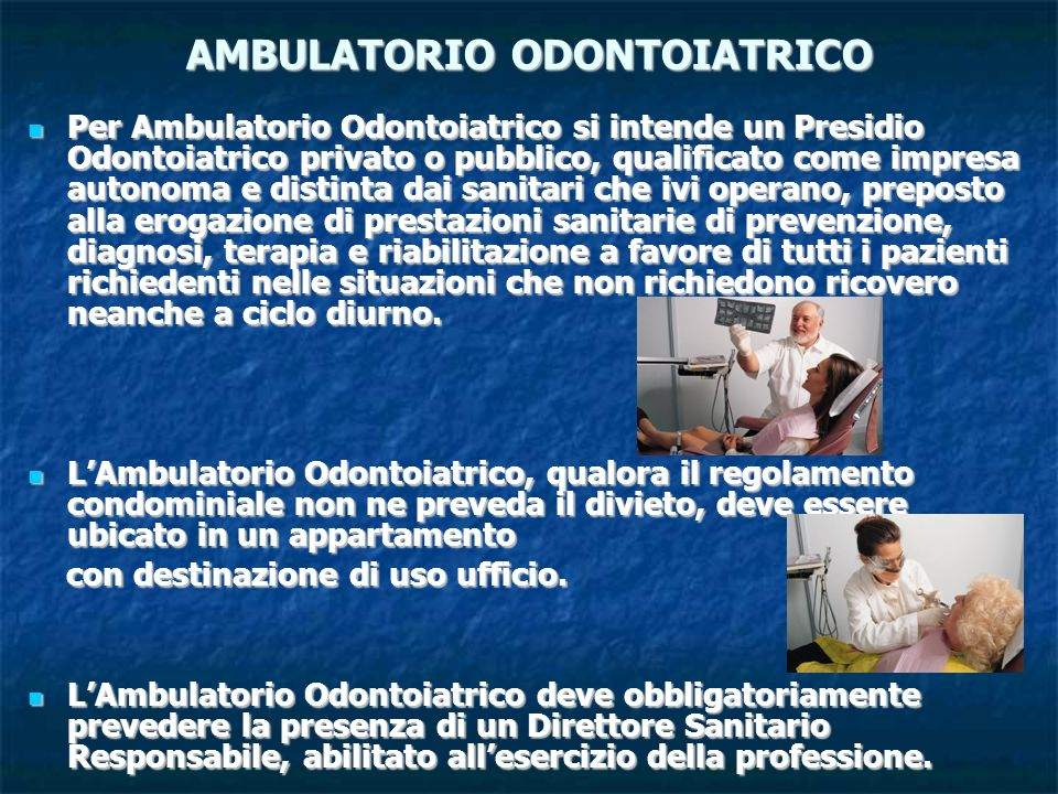 AMBULATORIO ODONTOIATRICO