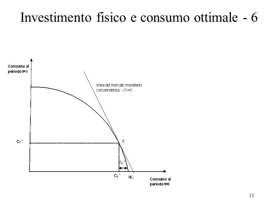Investimento fisico e consumo ottimale - 6