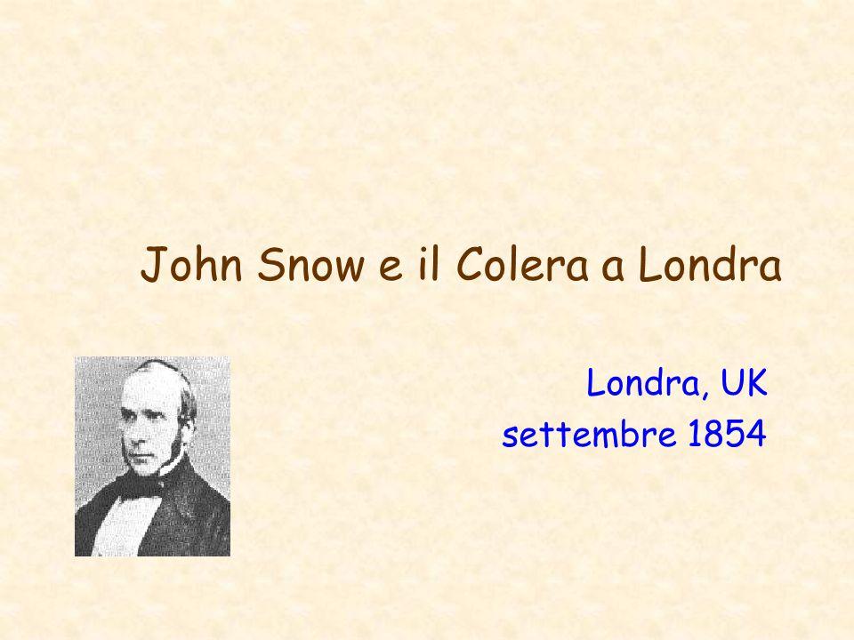John Snow e il Colera a Londra