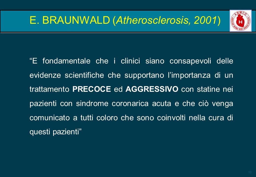 E. BRAUNWALD (Atherosclerosis, 2001)
