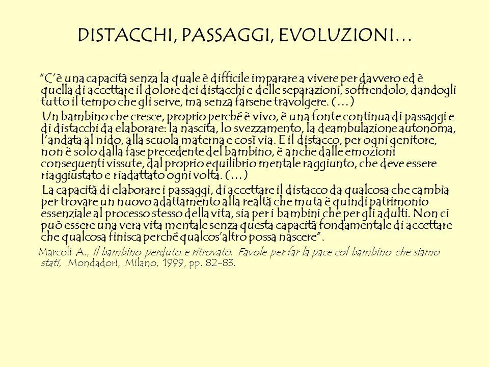 DISTACCHI, PASSAGGI, EVOLUZIONI…