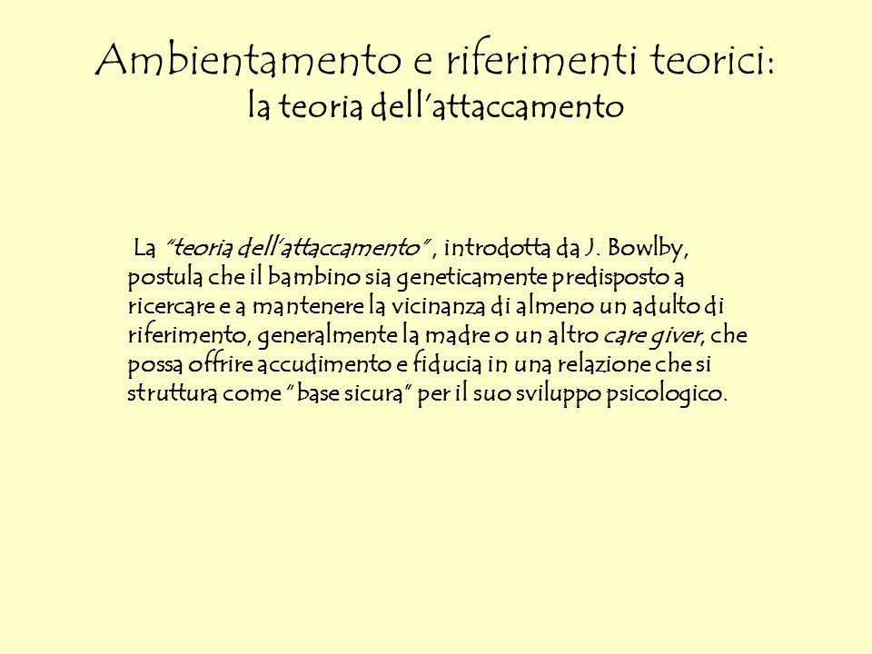 Ambientamento e riferimenti teorici: la teoria dell'attaccamento
