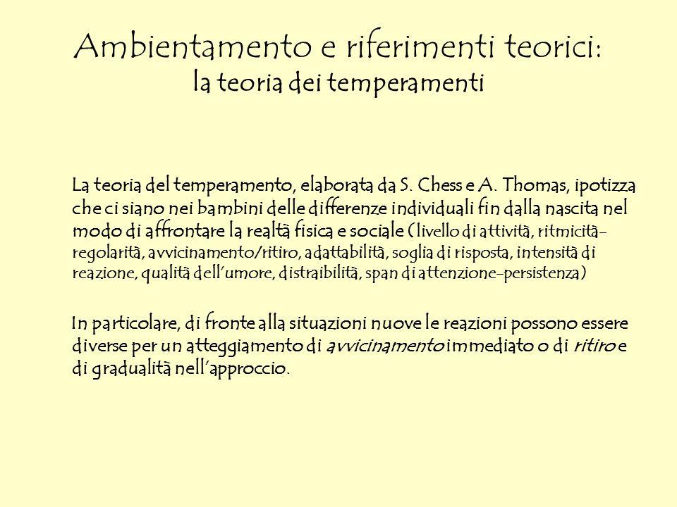Ambientamento e riferimenti teorici: la teoria dei temperamenti