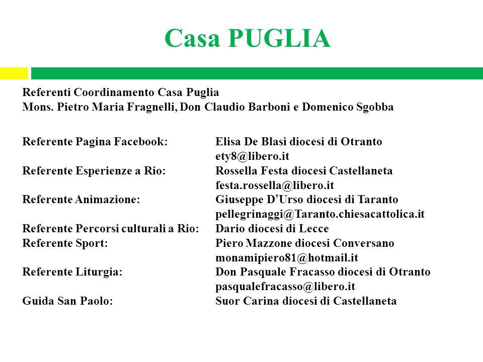 Casa PUGLIA Referenti Coordinamento Casa Puglia