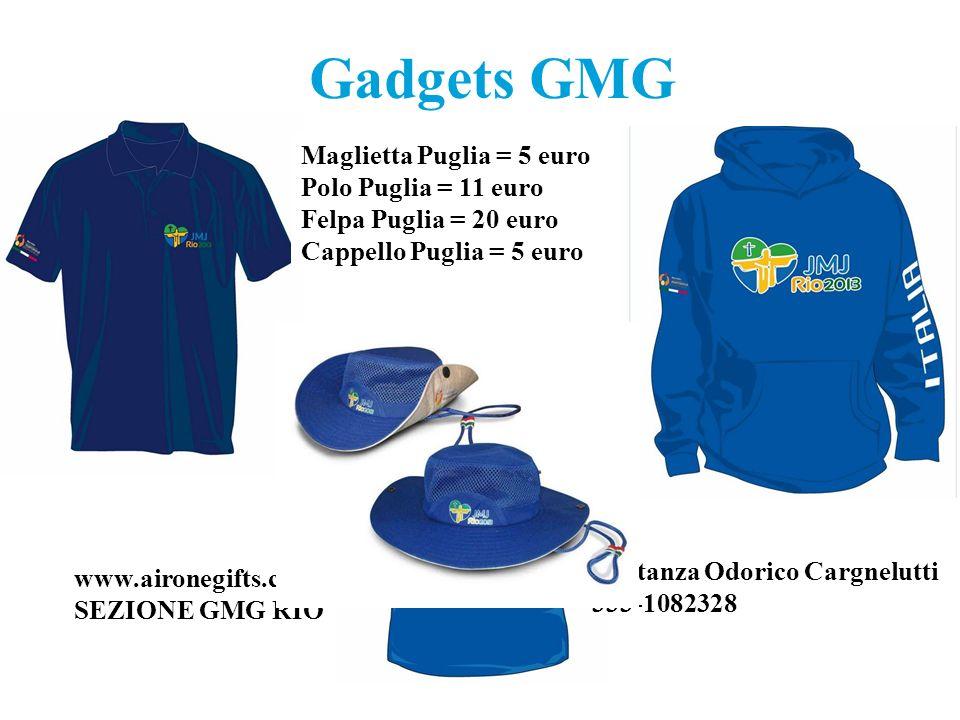 Gadgets GMG Maglietta Puglia = 5 euro Polo Puglia = 11 euro