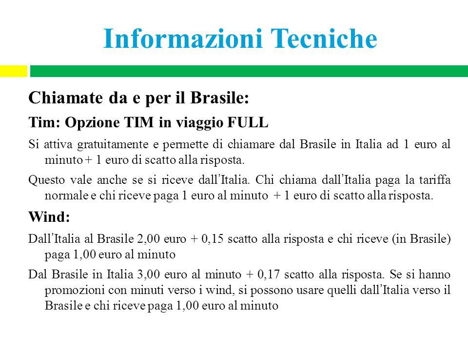 Informazioni Tecniche