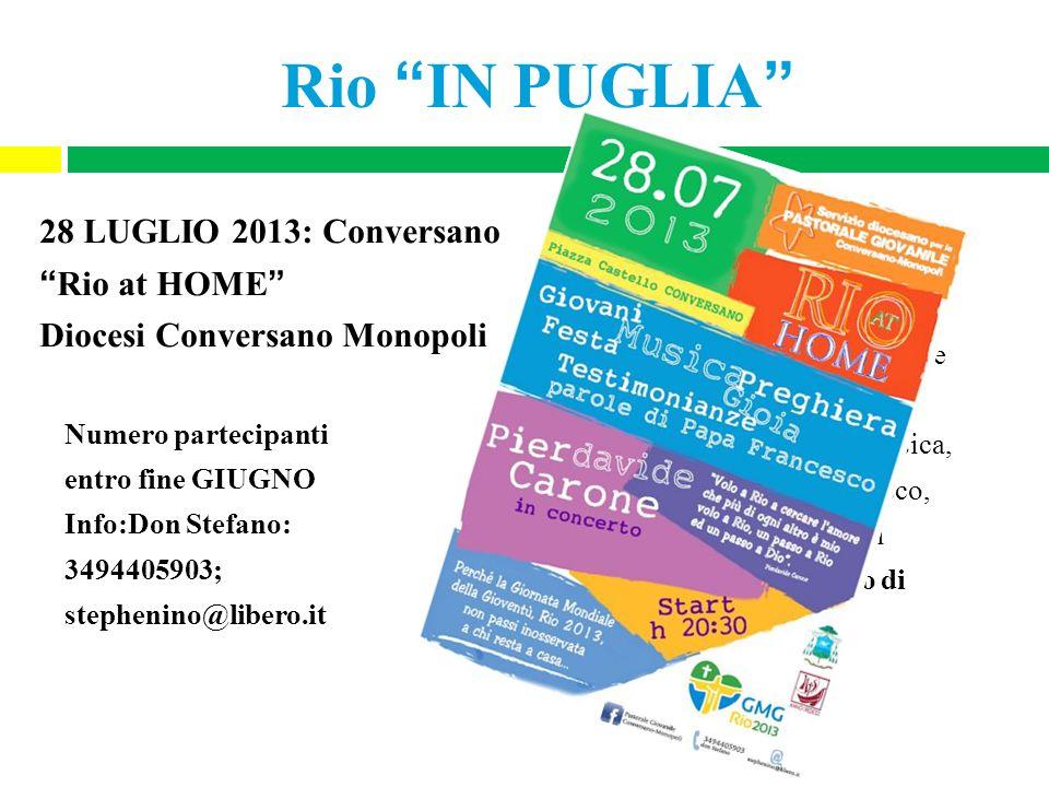 Rio IN PUGLIA 28 LUGLIO 2013: Conversano Rio at HOME