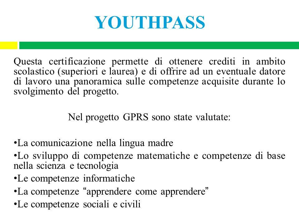 Nel progetto GPRS sono state valutate: