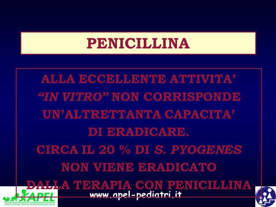 PENICILLINA ALLA ECCELLENTE ATTIVITA'