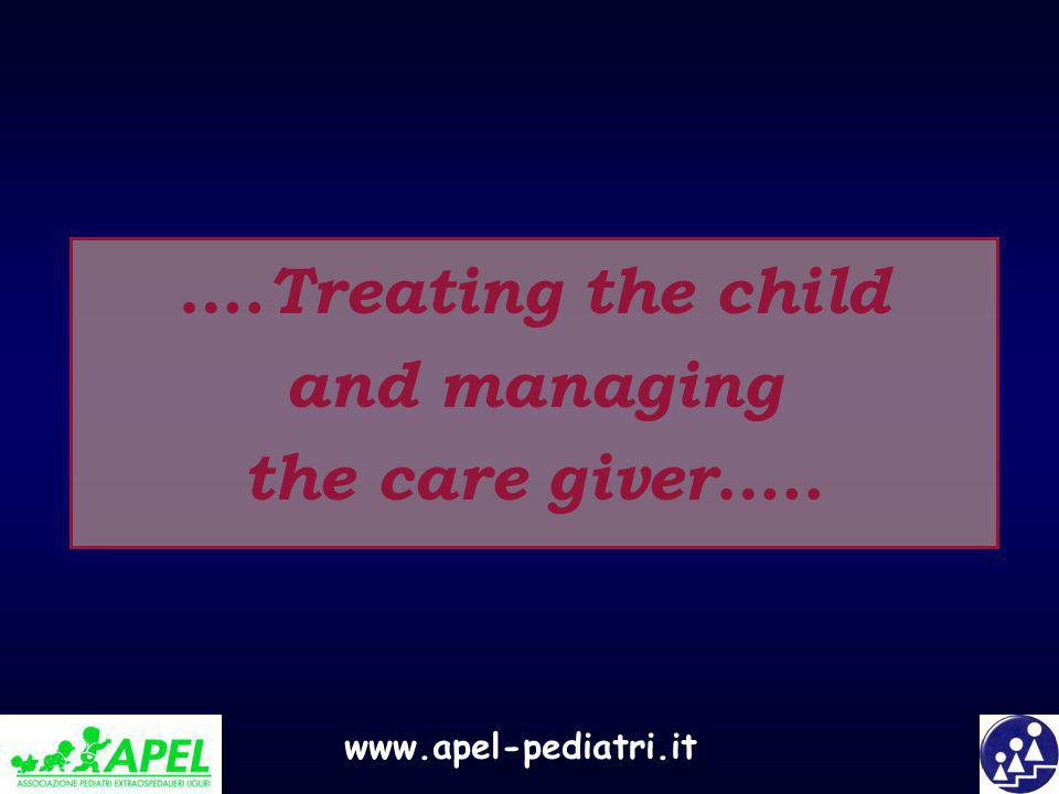….Treating the child and managing the care giver…..