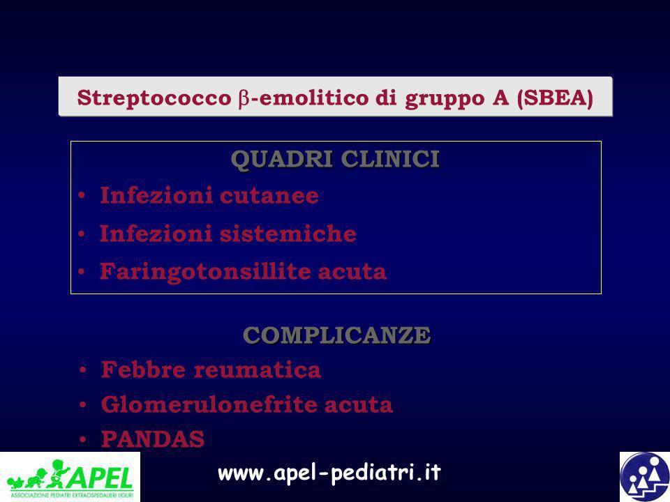 Streptococco -emolitico di gruppo A (SBEA)