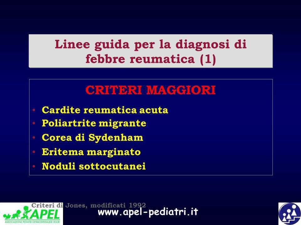 Linee guida per la diagnosi di febbre reumatica (1)