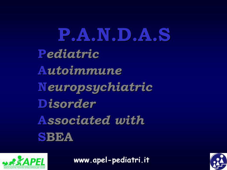 P.A.N.D.A.S Pediatric Autoimmune Neuropsychiatric Disorder