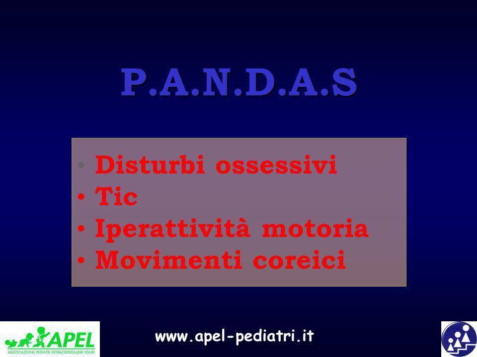 P.A.N.D.A.S Disturbi ossessivi Tic Iperattività motoria