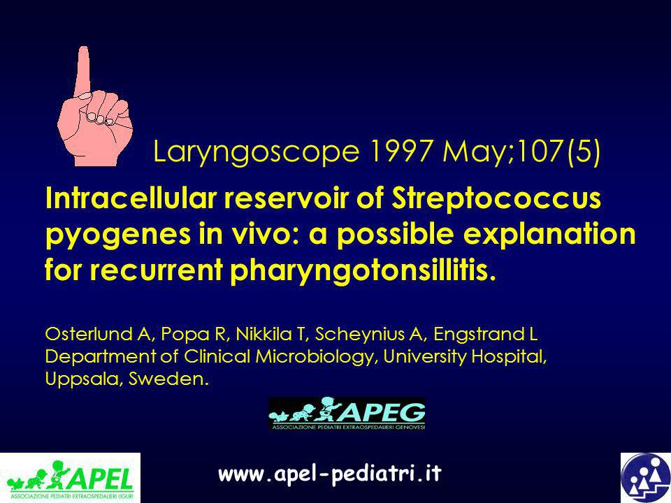 Intracellular reservoir of Streptococcus