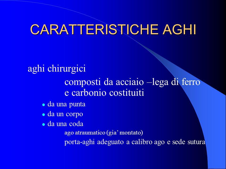 CARATTERISTICHE AGHI aghi chirurgici