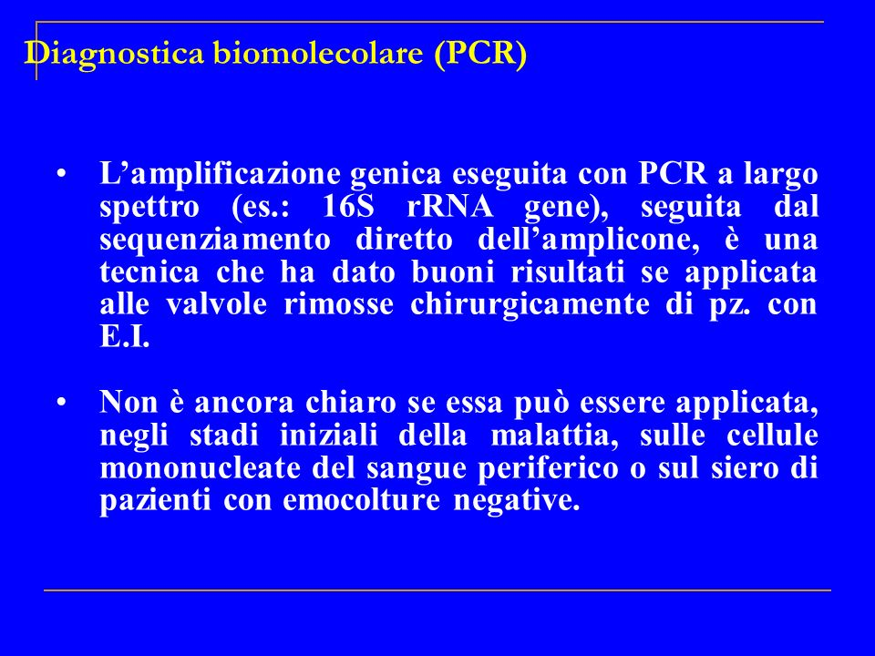 Diagnostica biomolecolare (PCR)