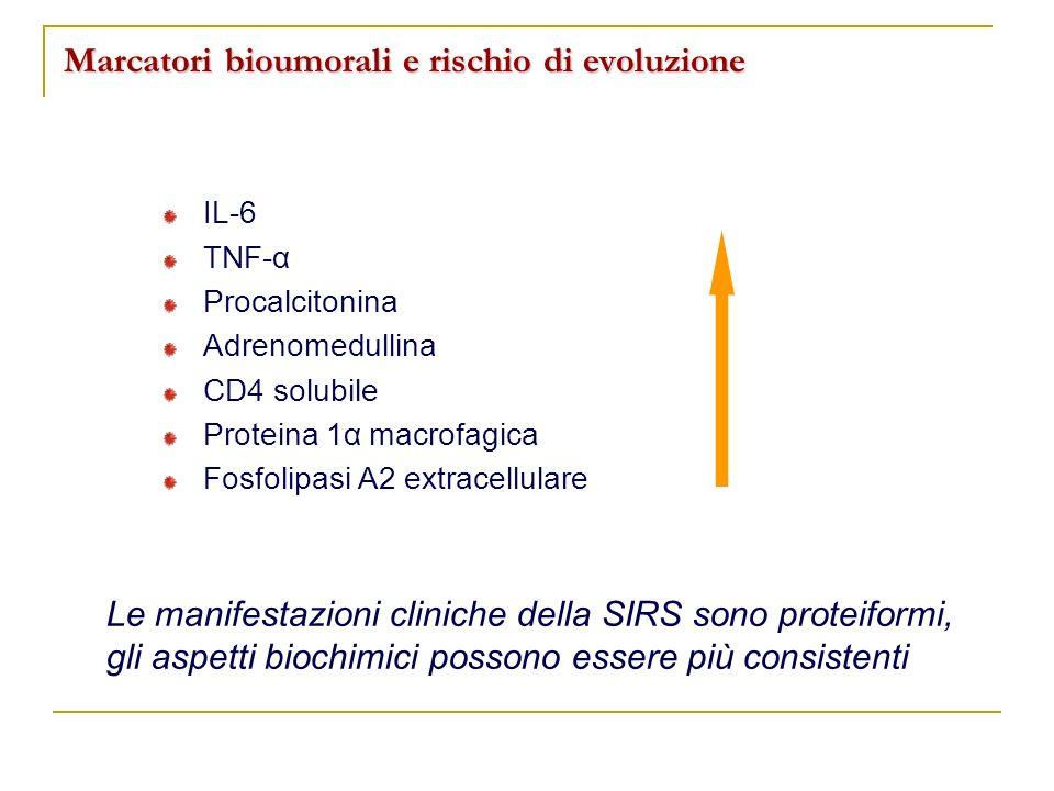 Marcatori bioumorali e rischio di evoluzione