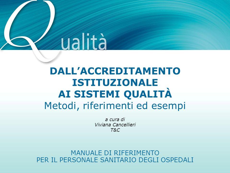 MANUALE DI RIFERIMENTO PER IL PERSONALE SANITARIO DEGLI OSPEDALI