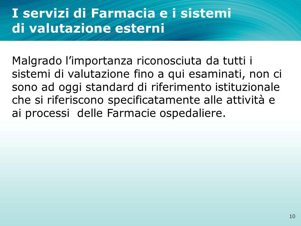 I servizi di Farmacia e i sistemi di valutazione esterni