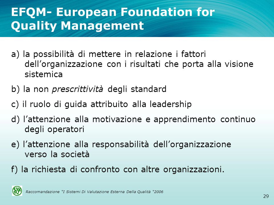 EFQM- European Foundation for Quality Management