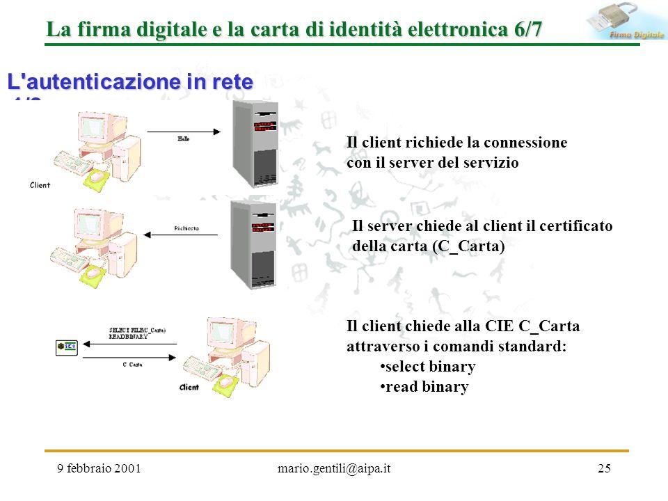 La firma digitale e la carta di identità elettronica 6/7