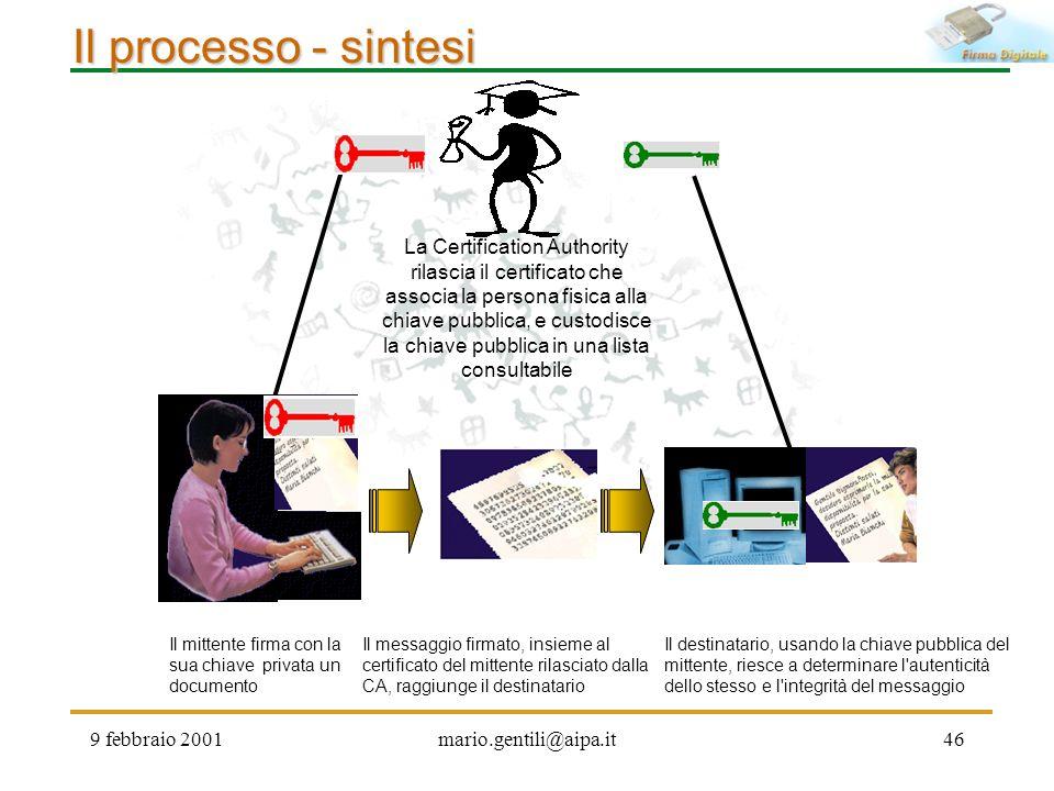 Il processo - sintesi