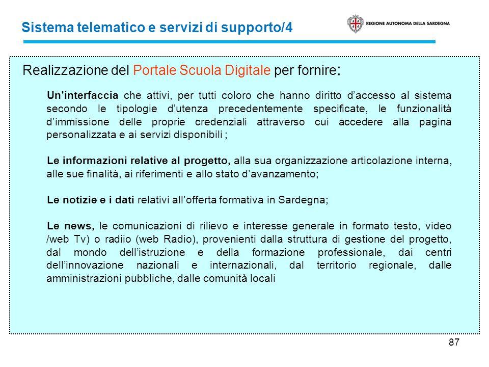 Sistema telematico e servizi di supporto/4