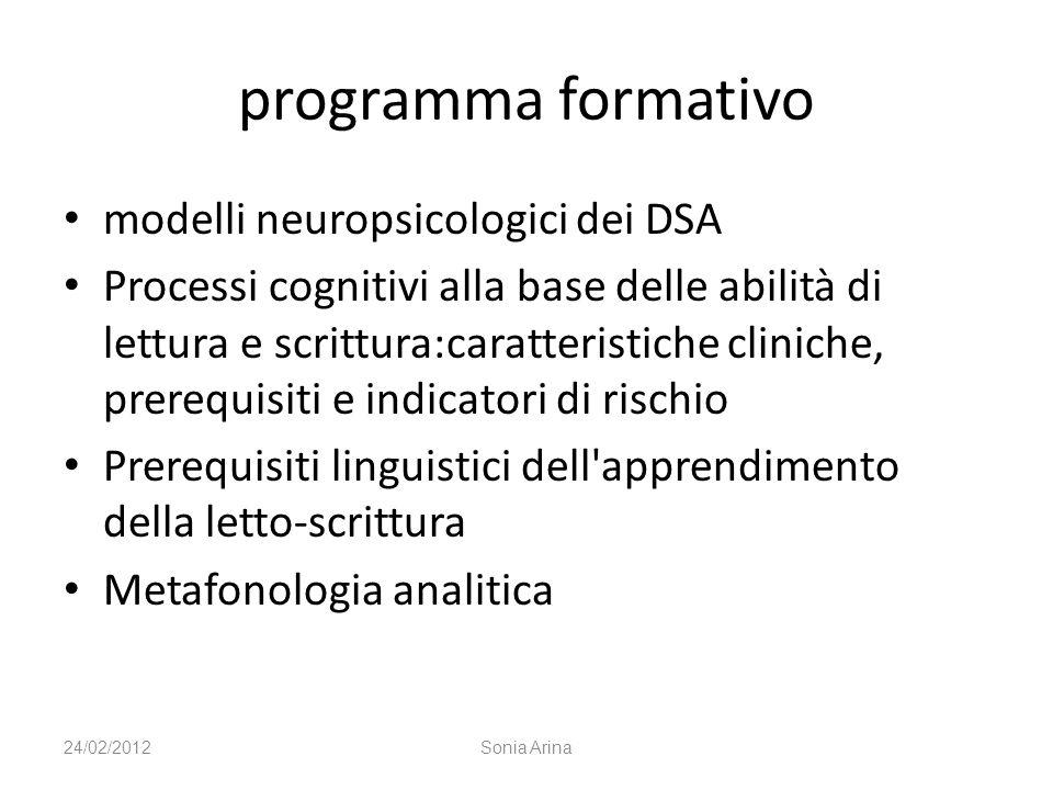 modelli neuropsicologici dei DSA