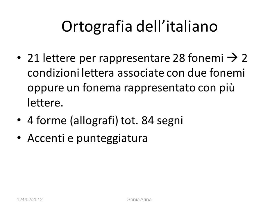 Ortografia dell'italiano