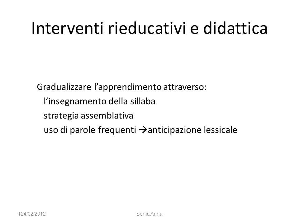 Interventi rieducativi e didattica