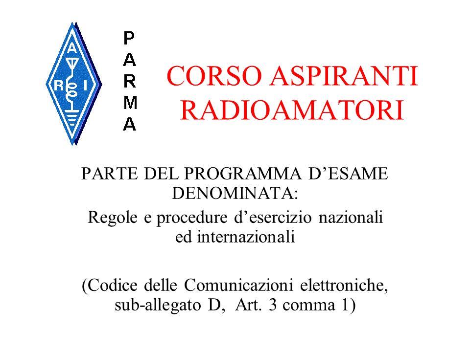 CORSO ASPIRANTI RADIOAMATORI