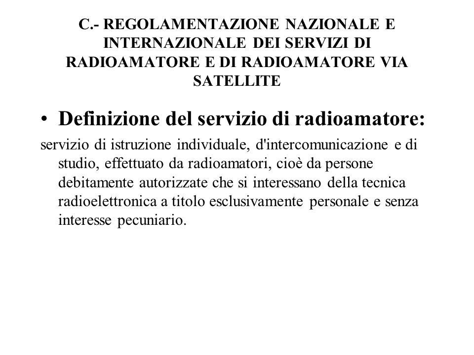 Definizione del servizio di radioamatore: