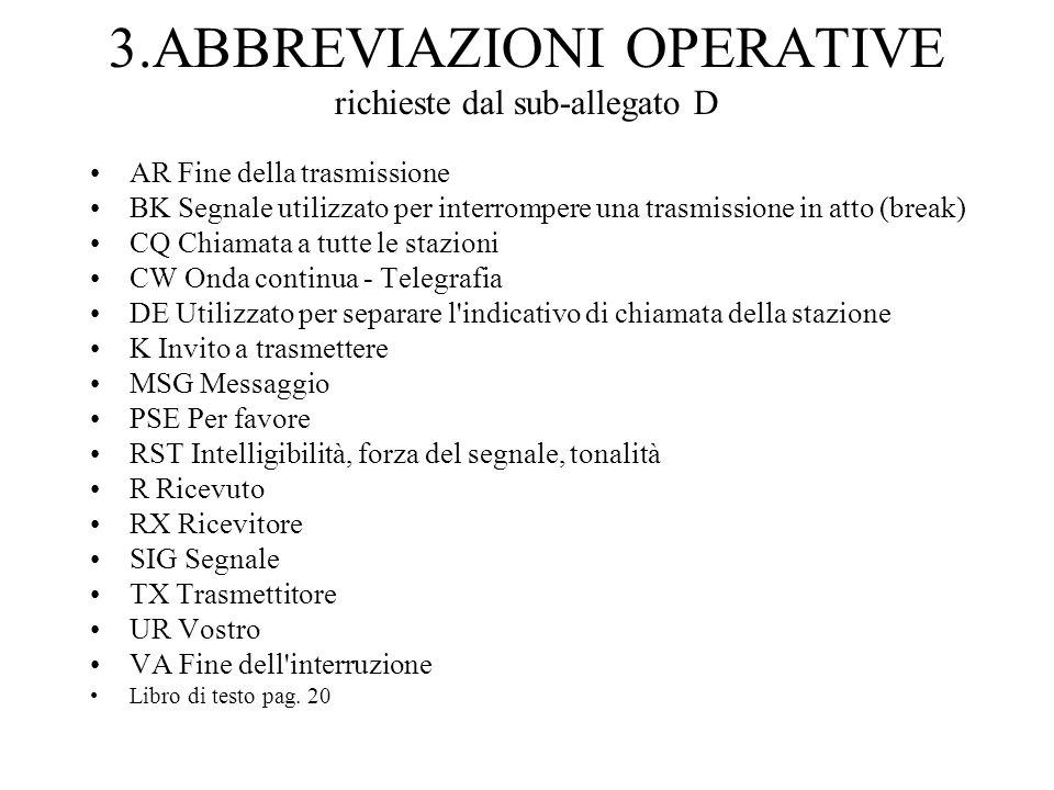 3.ABBREVIAZIONI OPERATIVE richieste dal sub-allegato D