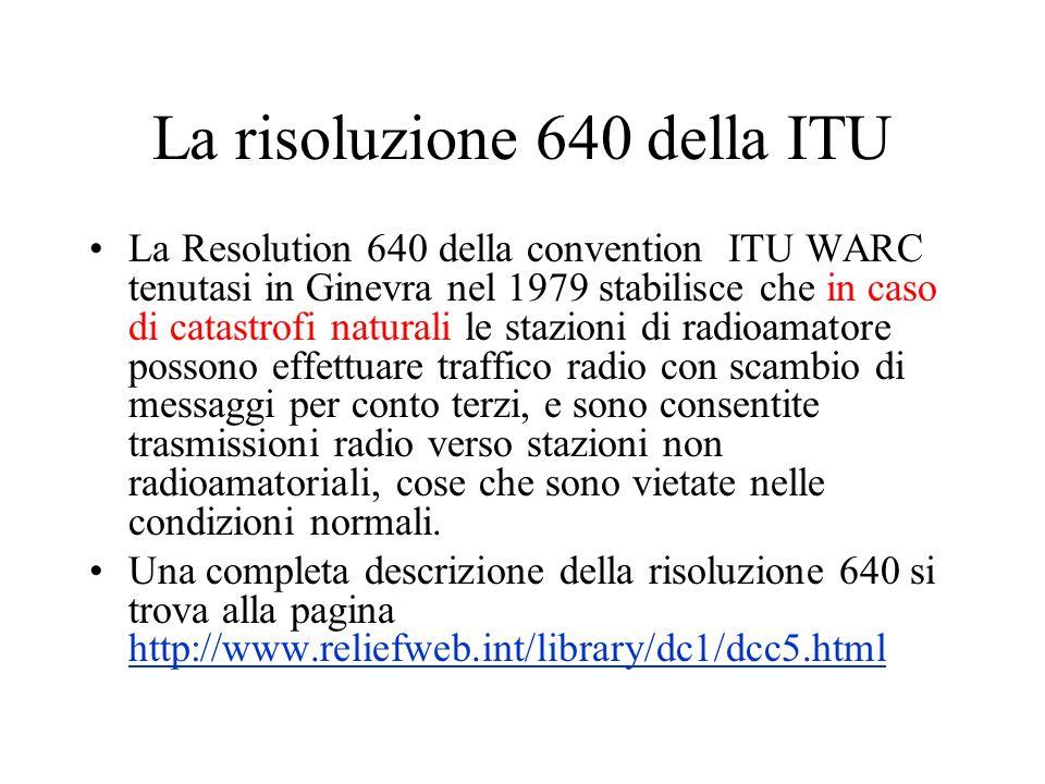 La risoluzione 640 della ITU