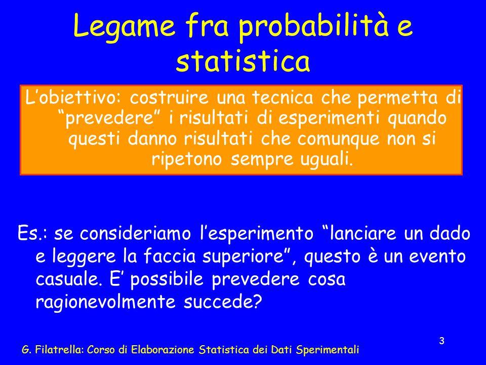 Legame fra probabilità e statistica