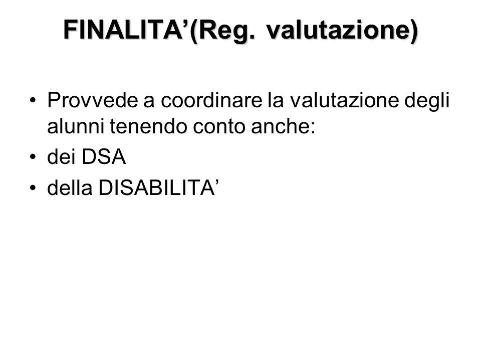 FINALITA'(Reg. valutazione)