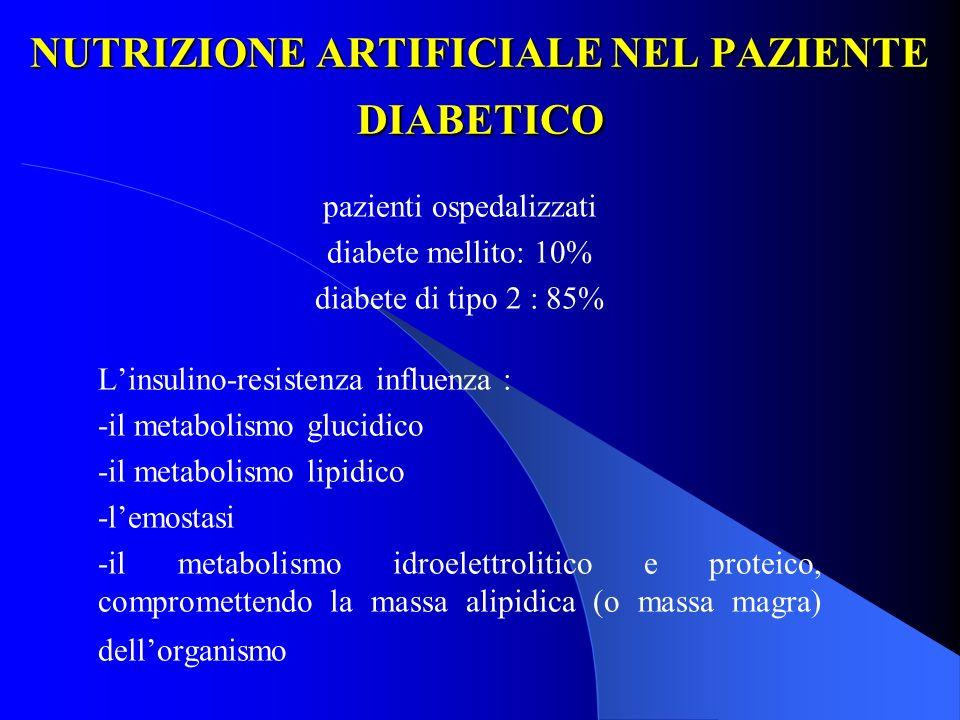 NUTRIZIONE ARTIFICIALE NEL PAZIENTE DIABETICO