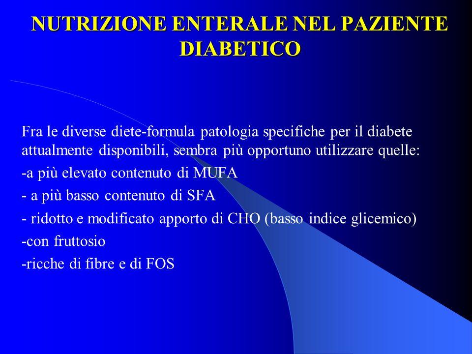 NUTRIZIONE ENTERALE NEL PAZIENTE DIABETICO