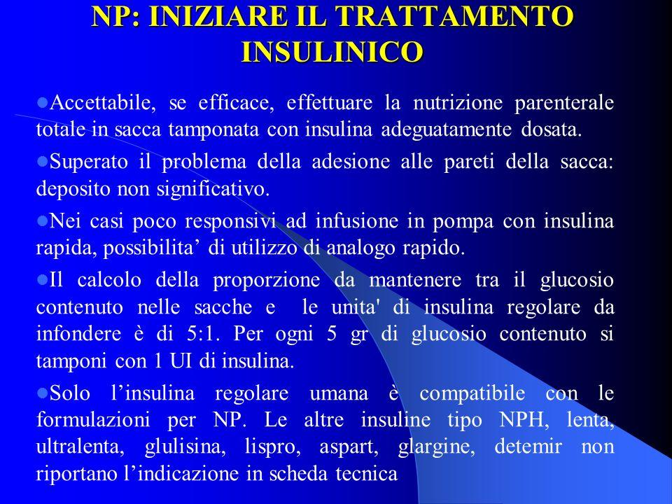 NP: INIZIARE IL TRATTAMENTO INSULINICO